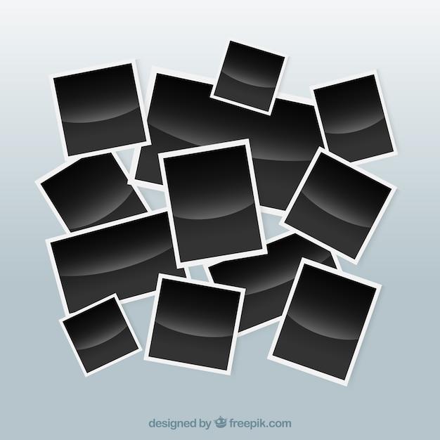 Verschillende fotocollectie Gratis Vector