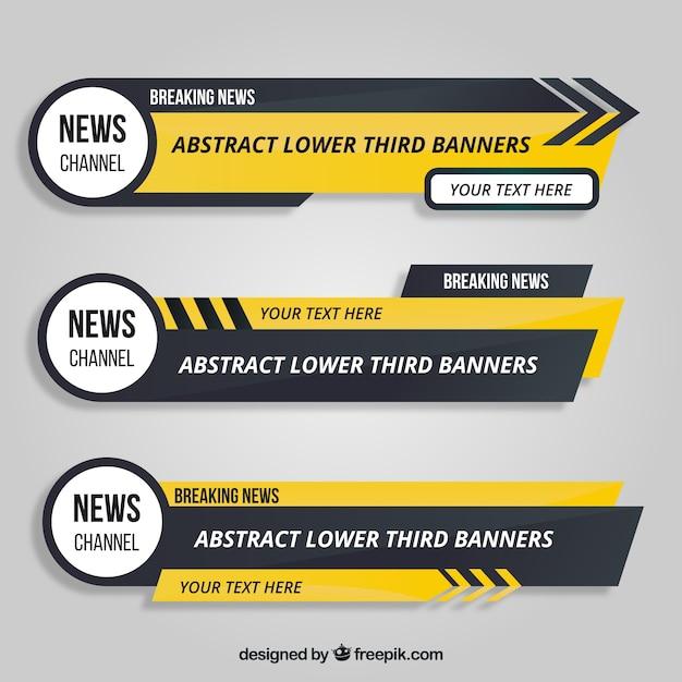 Verschillende lagere derden met gele details Gratis Vector