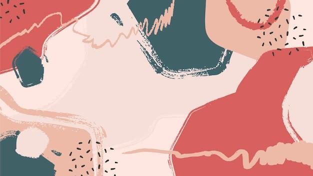 Verschillende vormen abstract geschilderde achtergrond Gratis Vector
