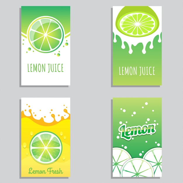 Verse citroensap banner ontwerp vector Premium Vector