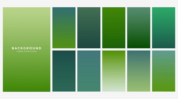 Verse groene eco hellingen achtergrond Gratis Vector