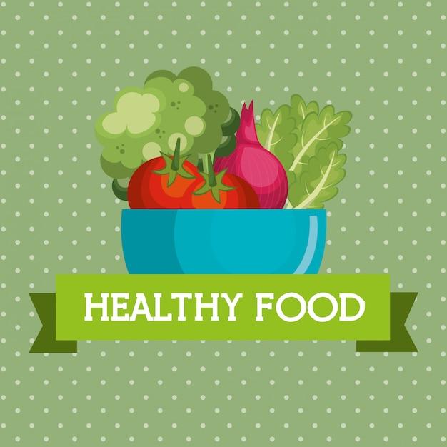Verse groenten gezond voedsel Gratis Vector
