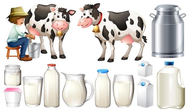 Verse melk Gratis Vector