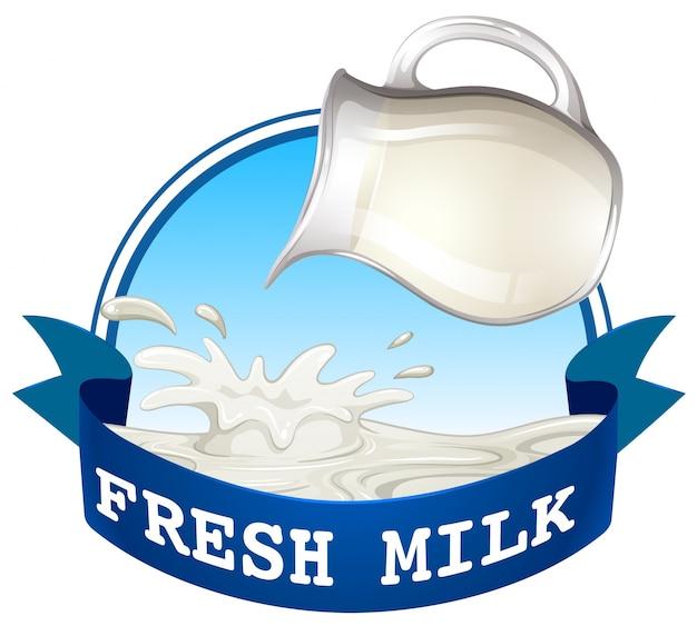 Verse melk Premium Vector