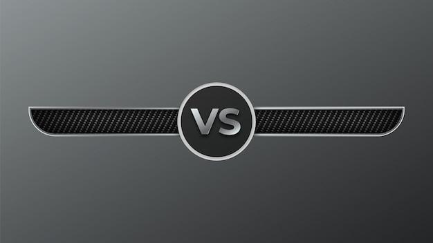 Versus boksen achtergrond Premium Vector
