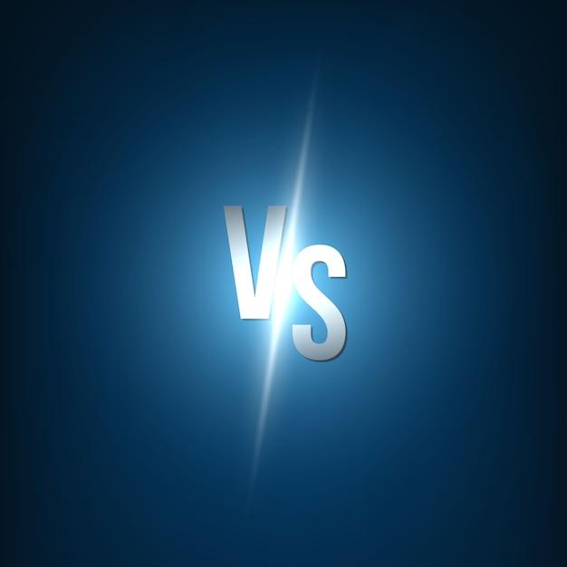 Versus versus achtergrond. Premium Vector
