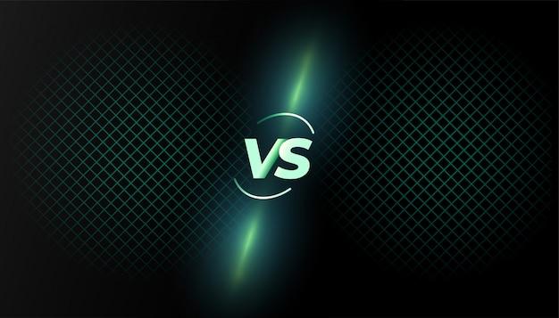 Versus versus achtergrondgevechtsschermsjabloonontwerp Gratis Vector