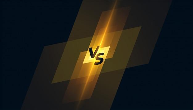 Versus vs concurrentie scherm sjabloon achtergrondontwerp Gratis Vector