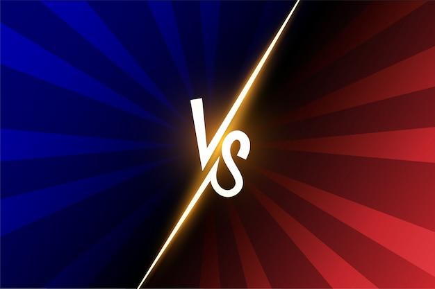 Versus vs letters vechten illustratie Premium Vector