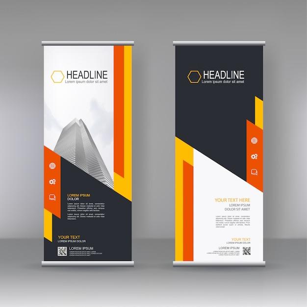 Verticale banner sjabloon ontwerp Premium Vector