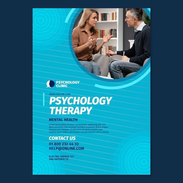 Verticale flyer-sjabloon voor psychologietherapie Gratis Vector