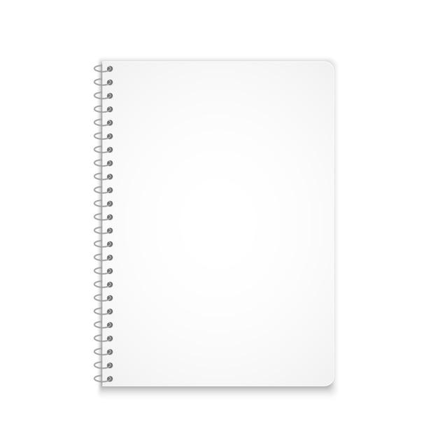 Verticale notebook mockup schaduw Premium Vector
