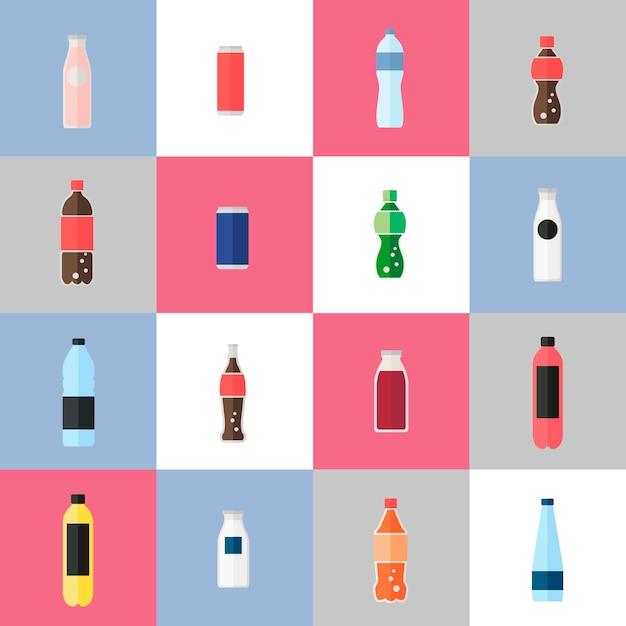 Verzameling van drankvectoren Gratis Vector