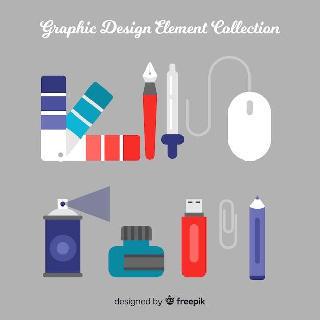 Verzameling van grafische ontwerpelementen Gratis Vector