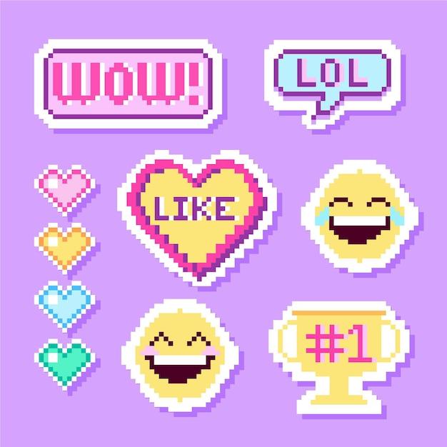 Verzameling van grappige lol stickers Gratis Vector