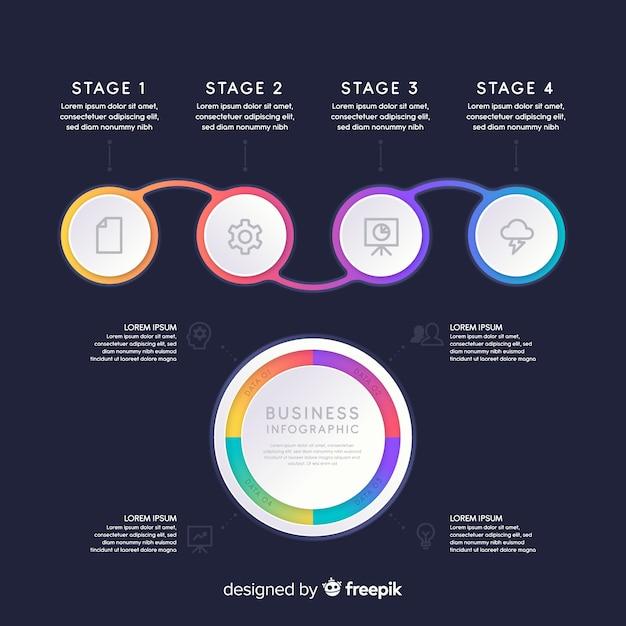 Verzameling van infographic elementen Gratis Vector