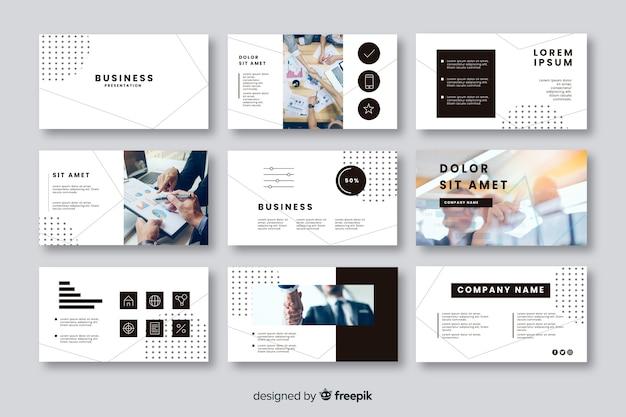 Verzameling van kaarten voor bedrijfspresentatie Gratis Vector