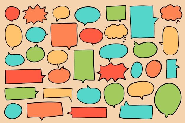 Verzameling van kleurrijke spraak bubbels vector Gratis Vector