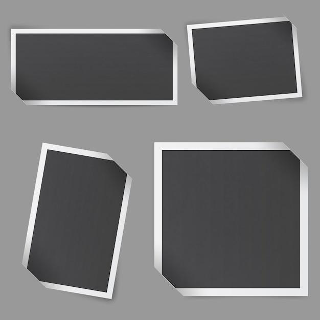 Verzameling van lege fotolijsten Premium Vector