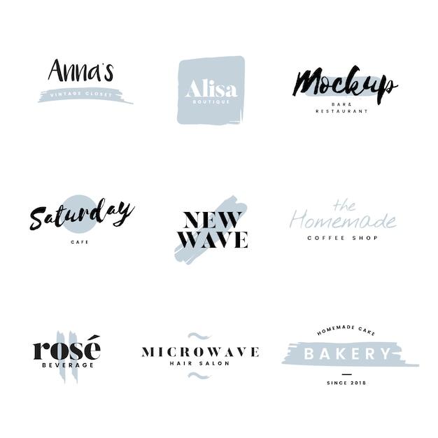 Verzameling van logo's en branding vector Gratis Vector