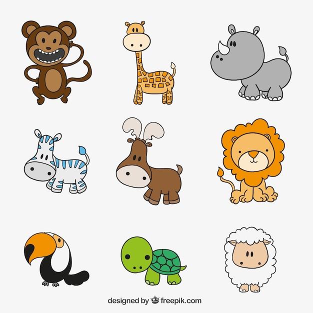 Zeer Verzameling van schattige dieren | Vector | Premium Download &BT26