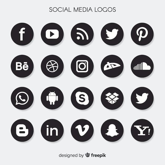 Verzameling van social media-logo's Gratis Vector