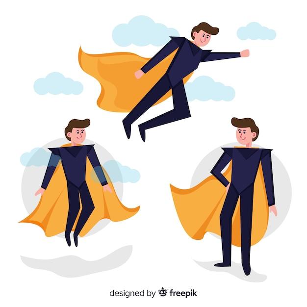 Verzameling van superhelden Gratis Vector