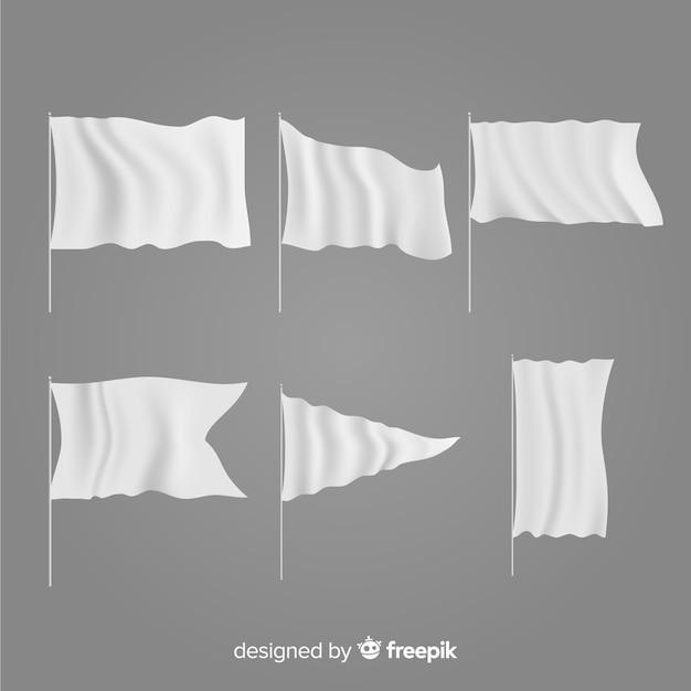 Verzameling van textiel vlaggen Gratis Vector