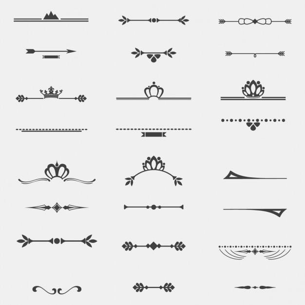 Verzameling van twaalf vintage frames voor het ontwerp Gratis Vector