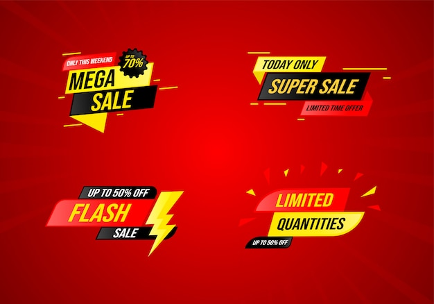 Verzameling van verkopen in een moderne stijl Premium Vector