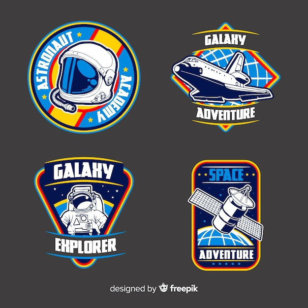 Verzameling van verschillende stickers met ruimte Gratis Vector