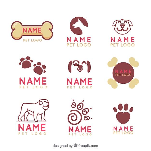 Verzameling van veterinair logo Premium Vector