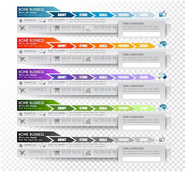 Verzameling webelementen Premium Vector