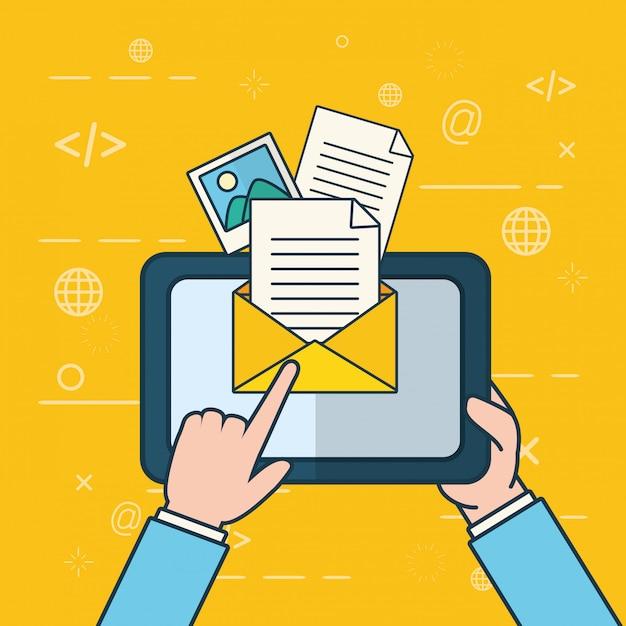 Verzend e-mailconcept Gratis Vector