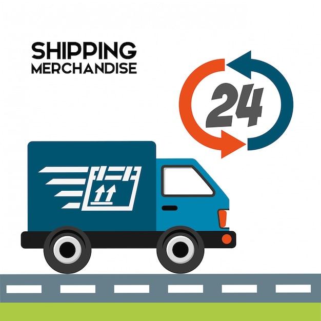 Verzending logistiek illustratie Gratis Vector