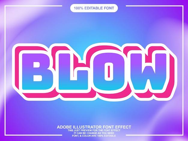 Vet bewerkbaar tekst lettertype effect Premium Vector
