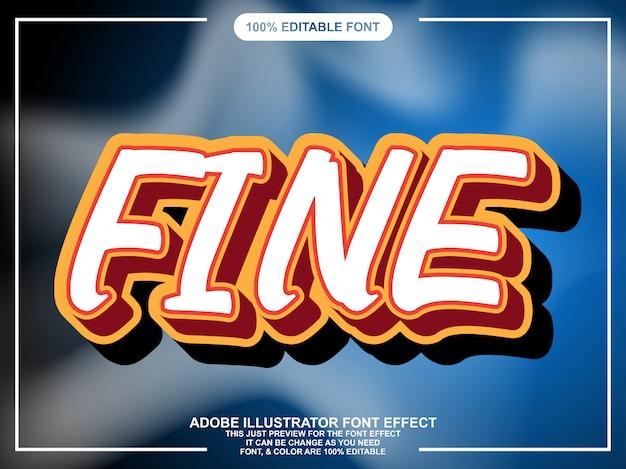 Vet cartton text style lettertype-effect Premium Vector