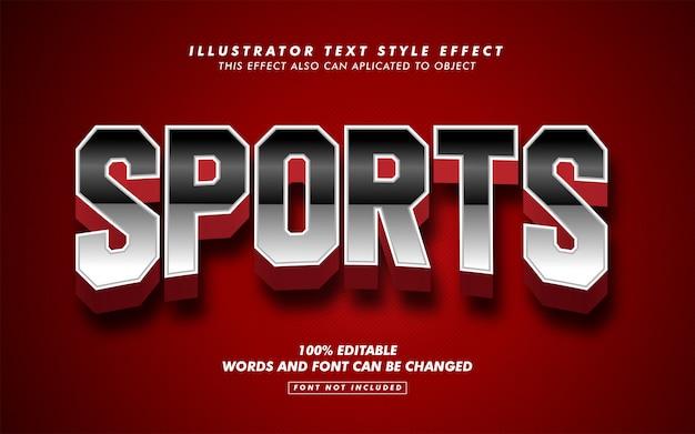 Vet sport tekststijl effect mockup Premium Vector