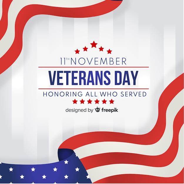 Veterans day achtergrond Gratis Vector