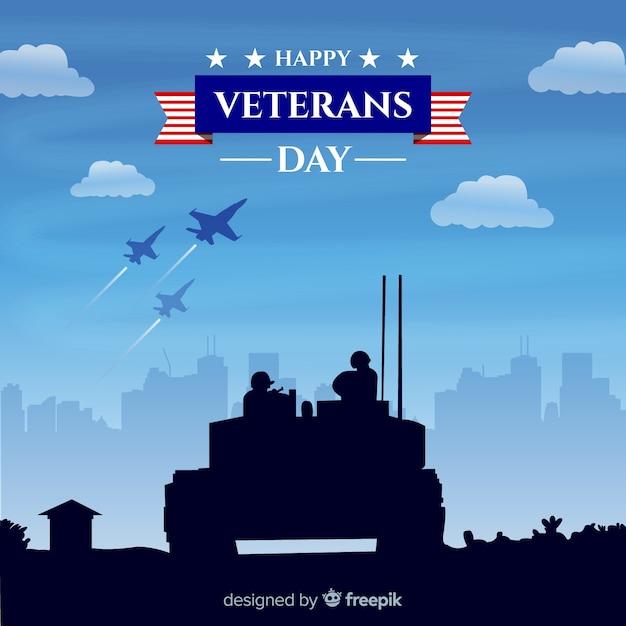 Veterans day achtergrond Premium Vector