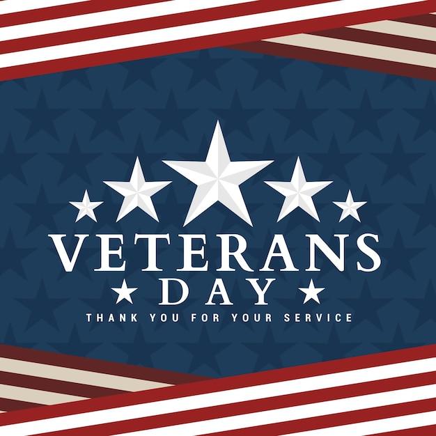 Veterans day ontwerp Gratis Vector