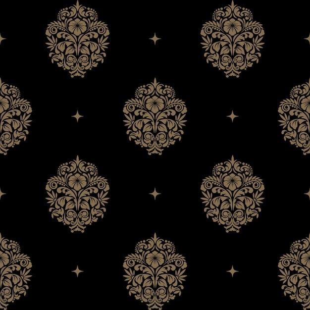 Victoriaans barok naadloos patroon. achtergrond Gratis Vector