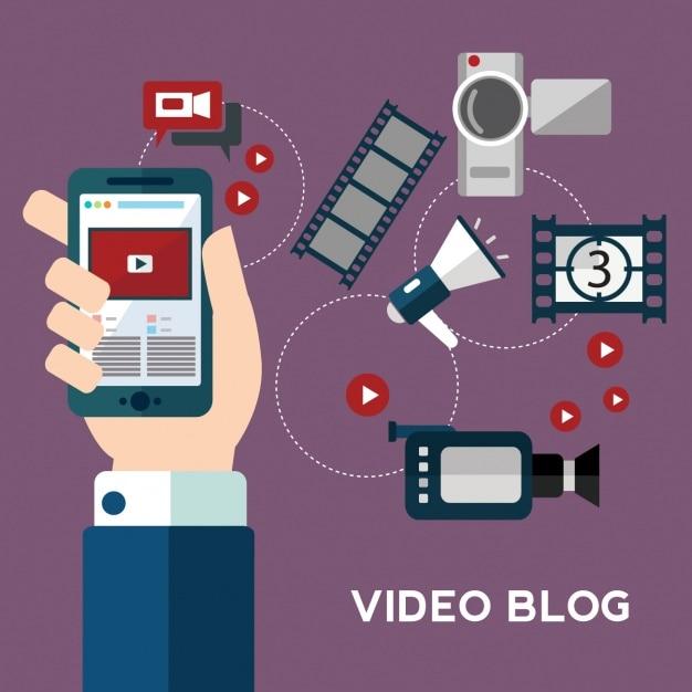 Video elementen collectie Gratis Vector