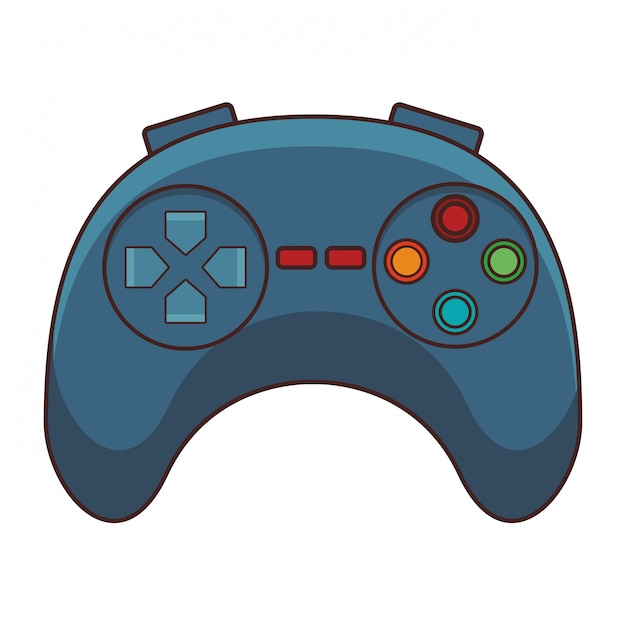 Video game controller cartoon Premium Vector