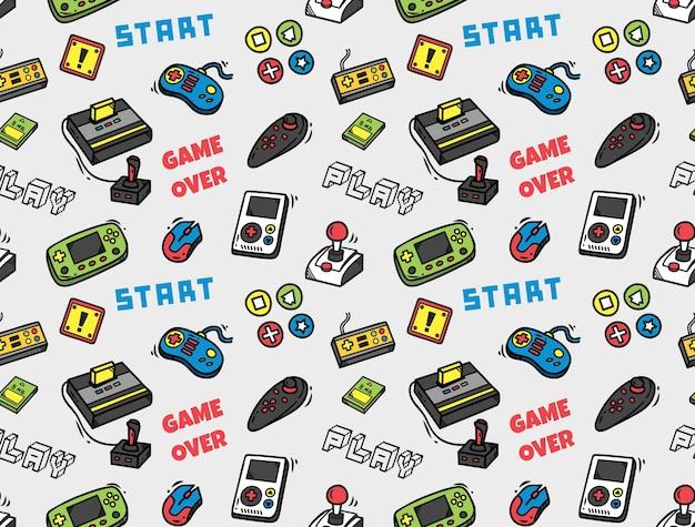 Video game naadloze achtergrond Premium Vector