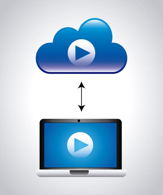 Video ontwerp Premium Vector