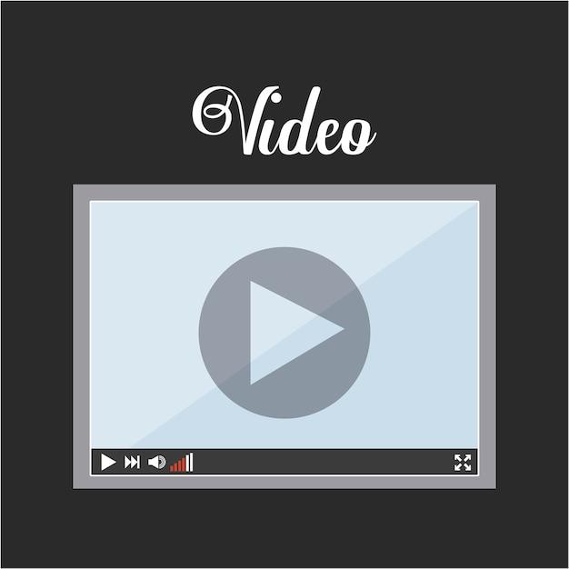 Video pictogram ontwerp, grafische illustratie eps10 Premium Vector