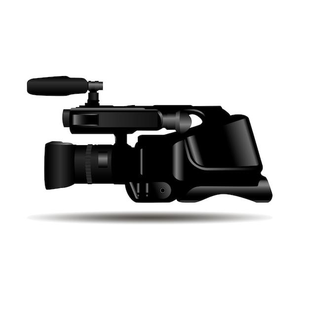 Videocamera vectorillustratie. studio-apparatuur. Premium Vector