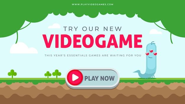 Videogame banner blog Gratis Vector