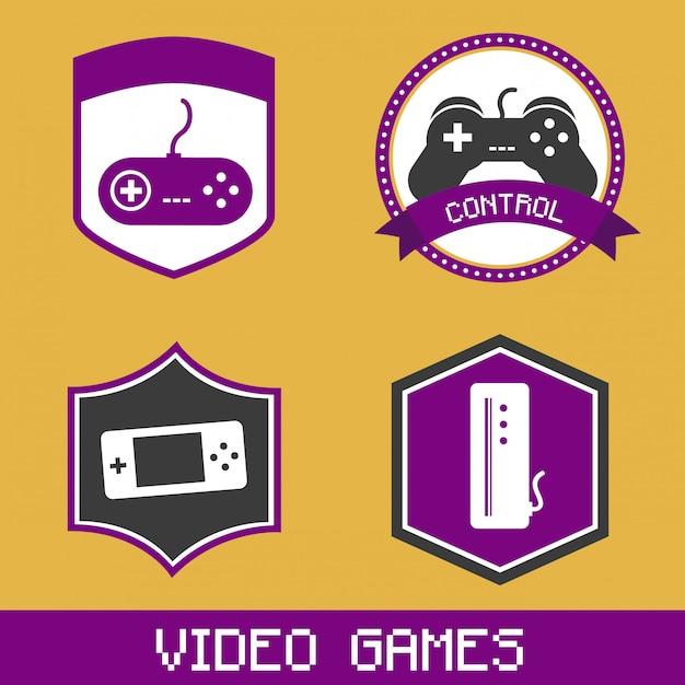 Videospellen Premium Vector